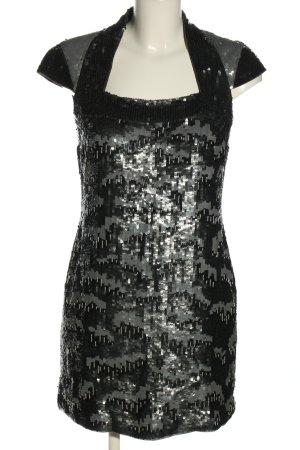French Connection Sequin Dress light grey-black elegant