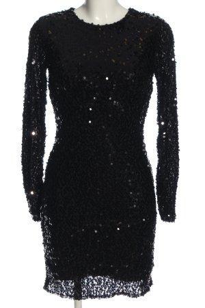French Connection Cekinowa sukienka czarny-srebrny W stylu casual