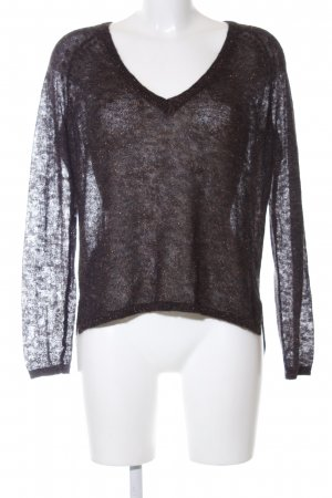 French Connection Rundhalspullover braun meliert Casual-Look
