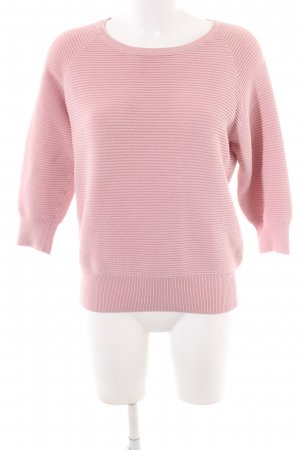 French Connection Rundhalspullover pink Streifenmuster Casual-Look