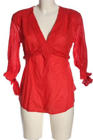 French Connection Blusa caída rojo look casual