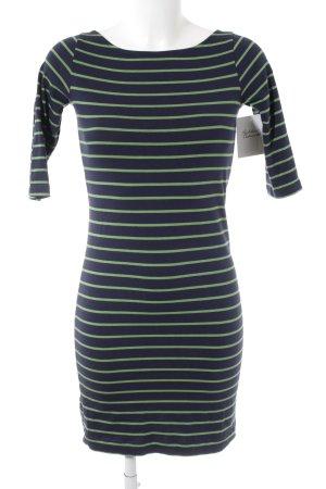 French Connection Shirtkleid dunkelblau-grün Streifenmuster Casual-Look