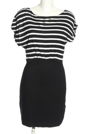 French Connection Shirtkleid weiß-schwarz Streifenmuster Casual-Look
