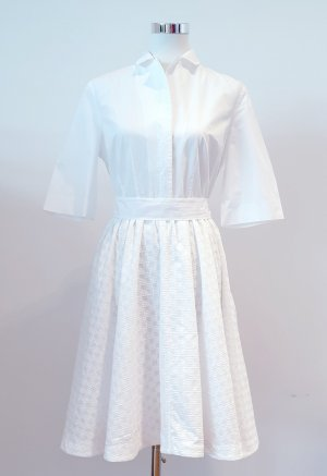 French Connection Robe chemise blanc coton