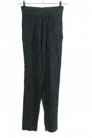 French Connection Jersey Pants blue-black allover print casual look