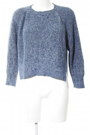French Connection Strickpullover weiß-blau meliert Casual-Look