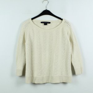 FRENCH CONNECTION Strickpullover Gr. M weiß oversized (19/11/428)
