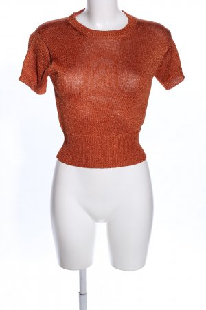 French Connection Strickshirt hellorange-goldfarben meliert Casual-Look
