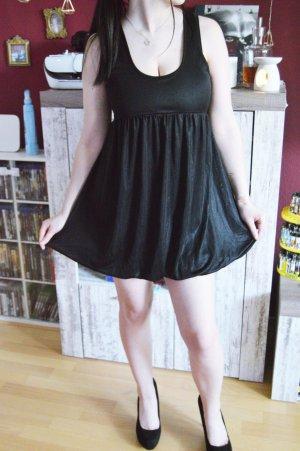 French Connection Super Mini Kleid schwarz glänzend