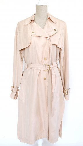 french connection Trenchcoat Mantel Jacke L 40 creme beige gold