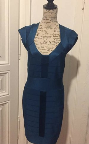 French Connection Pencil Dress dark blue viscose