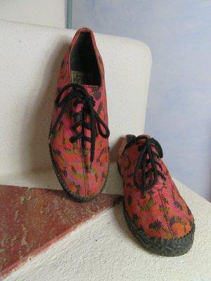 Frenzy Ethno Turnschuhe Stoff Sneaker - Gr. 36 - verrücktes Muster - Vintage