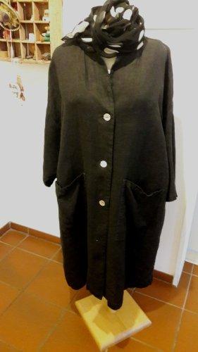 Frequence Coat Dress black linen