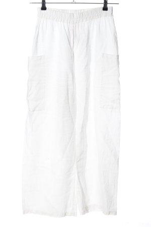 Frequence Pantalon palazzo blanc style décontracté