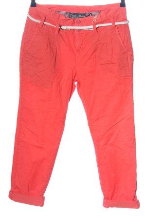 Fresh made Spodnie 3/4 czerwony-biały W stylu casual