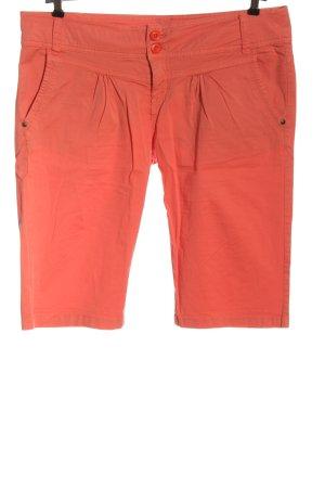Fresh made Jeansowe szorty czerwony W stylu casual