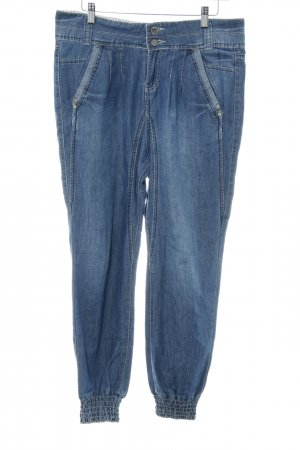 Fresh made Baggy jeans staalblauw casual uitstraling