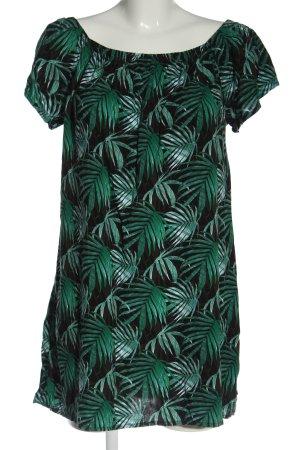 Fresh made Vestido de Verano negro-verde look casual