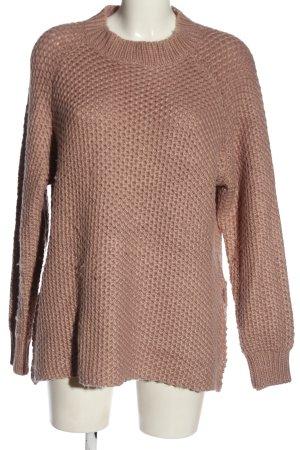 Fresh made Sweter z grubej dzianiny brązowy W stylu casual