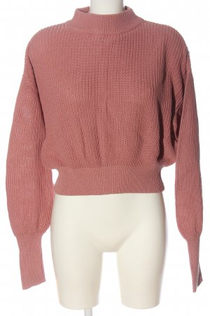 Fresh made Crochet Sweater pink casual look