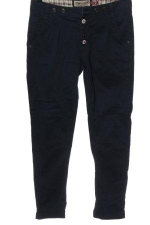 Fresh made Spodnie z wysokim stanem niebieski W stylu casual