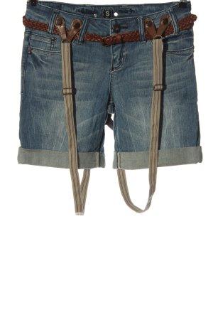 Fresh made Pantaloncino di jeans blu stile casual