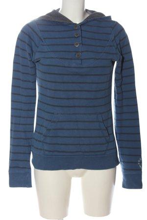 Fresh made Hooded Shirt blue-black themed print casual look