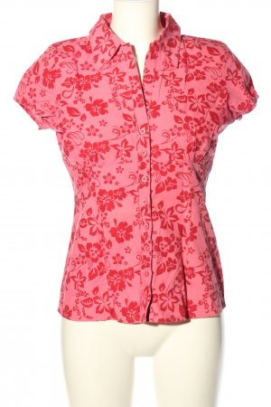 Fresh made Camisa de manga corta rosa-rojo look casual