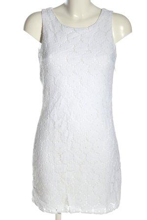 Fresh made Minikleid weiß Blumenmuster Elegant