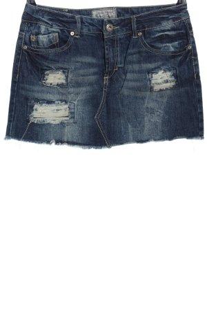 Fresh made Mini rok blauw casual uitstraling