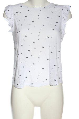 Fresh made Koszulka z nadrukiem biały-czarny Na całej powierzchni