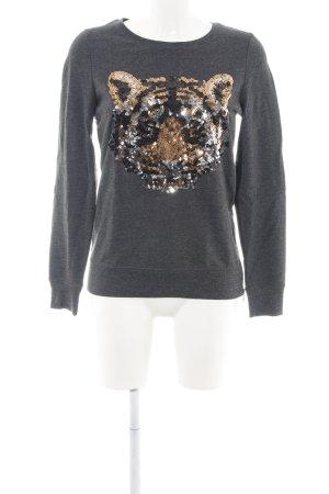Fresh made Sweter z okrągłym dekoltem Zwierzęcy wzór W stylu casual