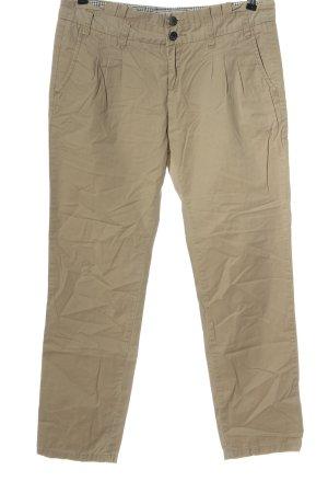 Fresh made Spodnie materiałowe nude W stylu casual