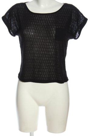 Fresh made Camisa tejida negro look casual
