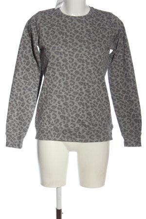 Fresh made Bluza dresowa jasnoszary Na całej powierzchni W stylu casual