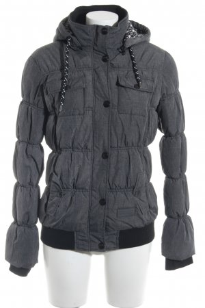 Fresh made Winterjacke dunkelgrau meliert Casual-Look