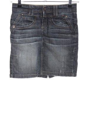 Gonna di jeans grigio chiaro stile casual