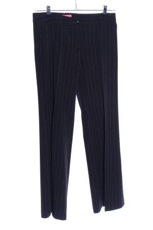 Freundin Pantalon de costume noir motif rayé style d'affaires