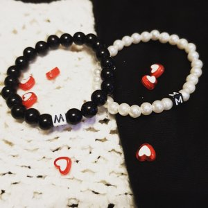 Softwalk Handmade Friendship Bracelet white-black