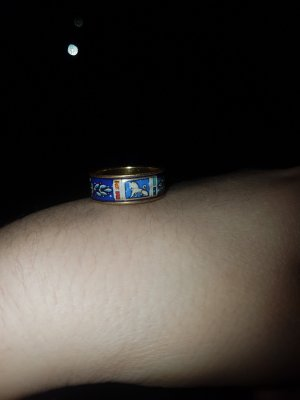 Freywille Gouden ring goud-blauw