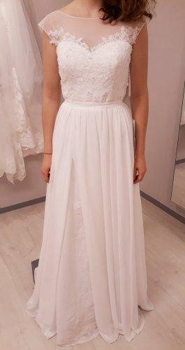 Frida Claire Suknia ślubna biały Tkanina z mieszanych włókien