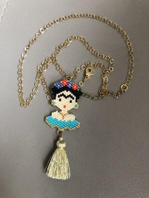 Necklace black-turquoise