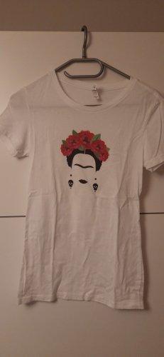 Bella+Canvas Shirt met print wit