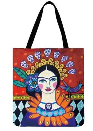 Frida Kahlo Tasche, Leinen