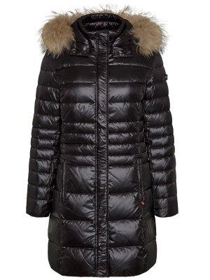 Frieda & Freddies New York Abrigo de plumón marrón-negro poliamida