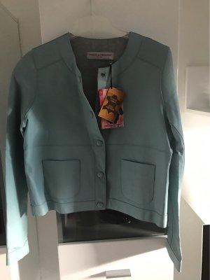 Frieda & Freddies New York Leather Jacket light blue leather