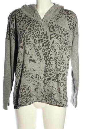 Frieda & Freddies New York Pull à capuche gris clair motif animal