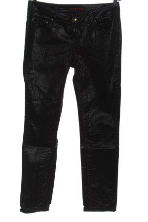 Frieda & Freddies New York Pantalón de efecto piel negro look efecto mojado