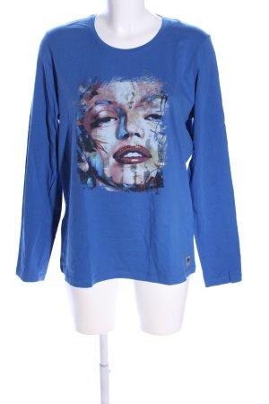 Frieda & Freddies New York Longsleeve blau-pink Motivdruck Casual-Look