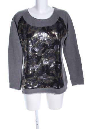 Frieda & Freddies New York Oversized Pullover hellgrau-schwarz meliert